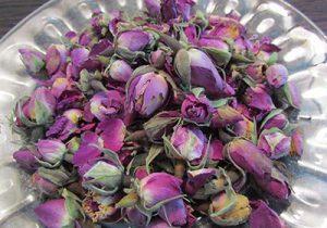 غنچه گل محمدی خشک شده